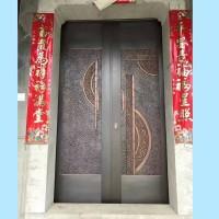 铜门厂家 锻铜屏风室内装饰 大型青铜地雕定制 迎客松锻铜浮雕 城市标志铜浮雕
