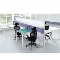 上海办公家具 钢木结构板式办公桌 现代简约桌上屏风工作位 特价